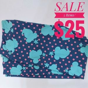 LuLaRoe Disney Minnie Mouse Blue Leggings TC